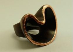 Кольцо из эбенового дерева с золотом