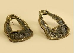 Серьги овальные в серебре с эмалью