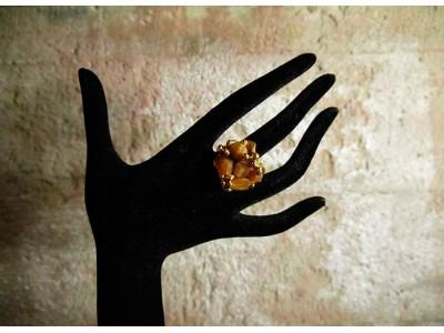 Кольцо с агатом в золоте