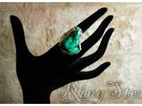 Кольцо с бирюзой в серебре