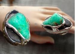 Кольцо с лазуритом в серебре