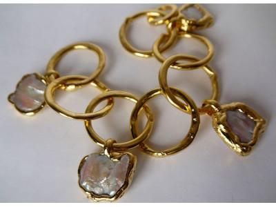 Браслет с жемчугом в золоте