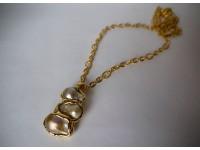 Кулон жемчужины в золоте
