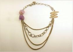 Ожерелье серебряное с аметрином