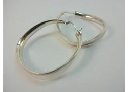 Серьги серебряные витые круглые
