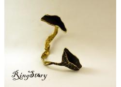 Браслет бронзовый с чернением