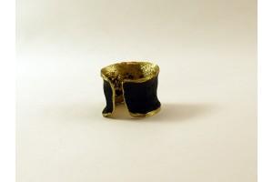 Кольцо из бронзы с чернением