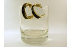 Серьги кольца черные маленькие из бронзы