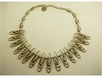 Ожерелье посеребренное
