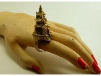 """Кольцо из бронзы """"Башня"""""""