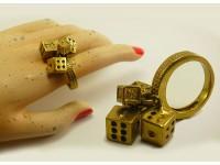 """Кольцо из бронзы """"Кубики"""""""