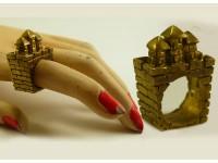 """Кольцо из бронзы """"Крепость"""""""