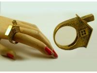 """Кольцо из бронзы """"Домик"""""""