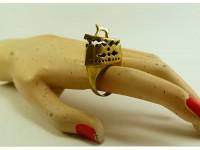 """Кольцо из бронзы """"Утюг"""""""