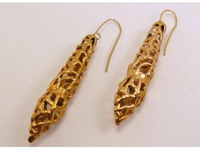 Серьги из бронзы длинные