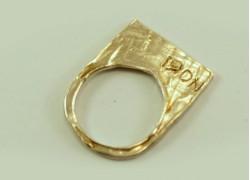 Кольцо плоское из серебра