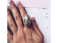 Кольцо c лабрадоритом в золоте