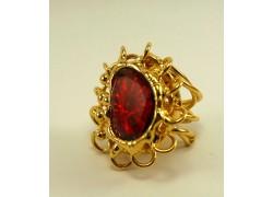 Кольцо с горным хрусталем в золоте
