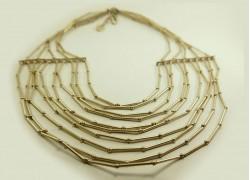 Ожерелье из латуни в серебре