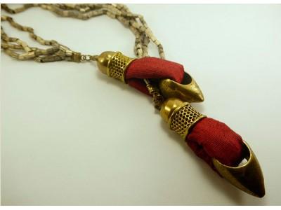 Ожерелье из стали с текстилем