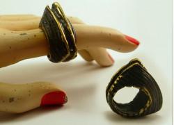 Кольцо из латуни с окисью