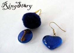 Серьги из стекла Мурано синие