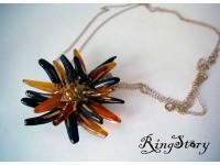 Кулон-цветок из стекла Мурано