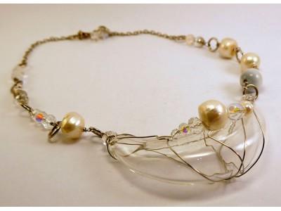 """Ожерелье из стекла Мурано - """"Полумесяц"""""""