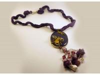 Ожерелье из стекла Мурано фиолетовое