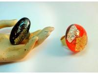 Кольцо Мурано с разводами внутри