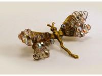Брошь-стрекоза с кристаллами Сваровски