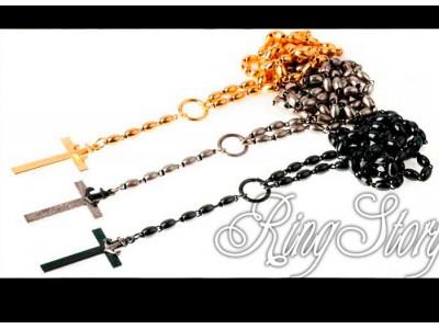 Ожерелье-четки с крестом и якорем