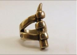 Кольцо посеребренное