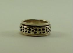 Кольцо серебряное крутящееся