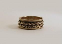 Кольцо серебряное крутящееся широкое