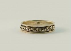 Кольцо серебряное крутящееся узкое