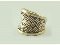Кольцо серебряное регулируемого размера