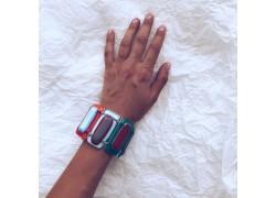 Браслет из стекла Мурано прямоугольный разноцветный