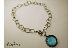 Ожерелье посеребренное с камеей